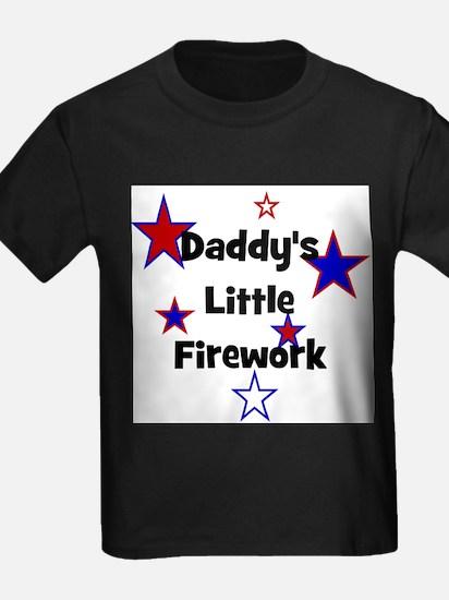 Daddy's Little Firework Kids T-Shirt