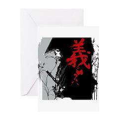 GI Dark Samurai Greeting Card
