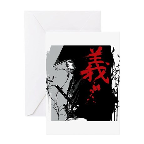 GI Dark Samurai Greeting Card