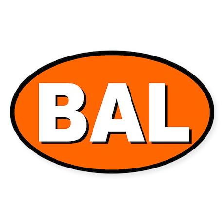 Baltimore, Maryland Oval Sticker
