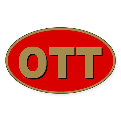 Ottawa, Ontario Oval Sticker