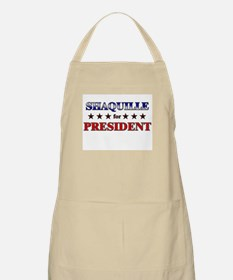 SHAQUILLE for president BBQ Apron