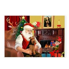 Santa's Welsh Terrier Postcards (Package of 8)