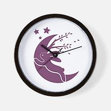 Bunny Moon Wall Clock
