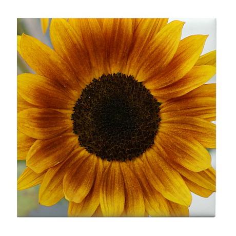 Golden Sunflower Tile Coaster