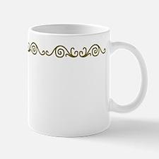 Gold Scrollwork Mug