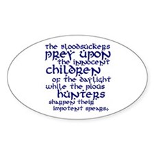 Impotent Spears Oval Decal