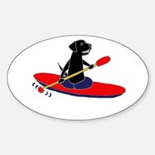 Kayaking Dog Decal