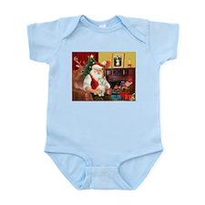 Santa's Westie Infant Bodysuit