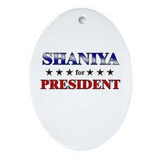 SHANIYA for president Oval Ornament