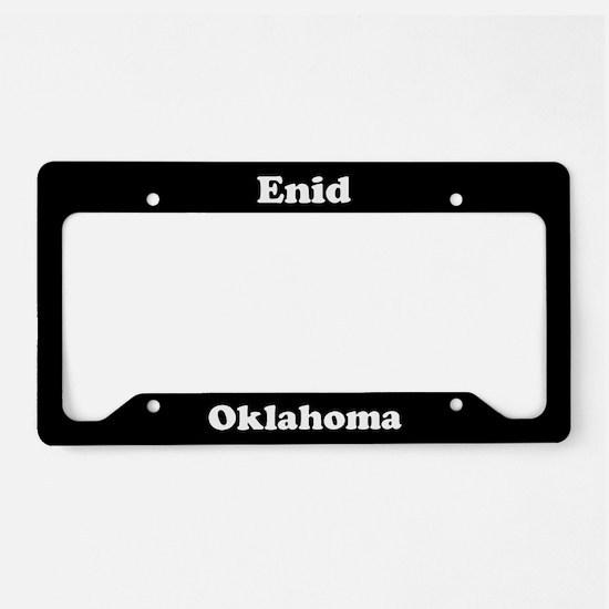 Enid OK License Plate Holder