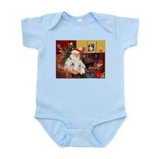 Santa/2 West Highland Infant Bodysuit