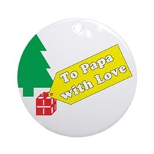 To Papa Ornament (Round)