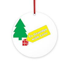 To Grandpa Ornament (Round)