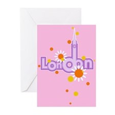 pink london Greeting Cards (Pk of 10)