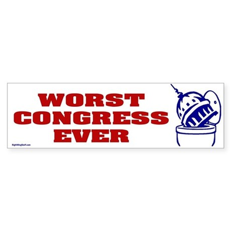 Worst Congress Ever Bumper Sticker