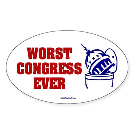 Worst Congress Ever Oval Sticker