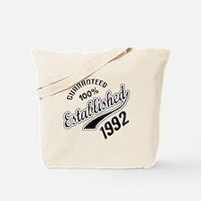 Guaranteed 100% Established 1992 Tote Bag