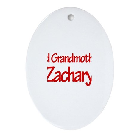 Proud Grandmother of Zachary Oval Ornament