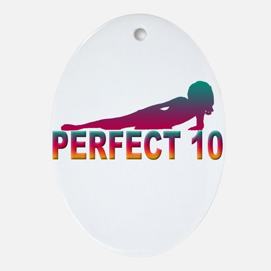 Perfect 10 Oval Ornament