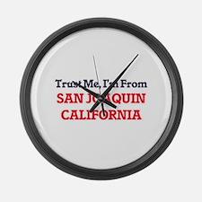 Trust Me, I'm from San Joaquin Ca Large Wall Clock