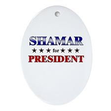 SHAMAR for president Oval Ornament