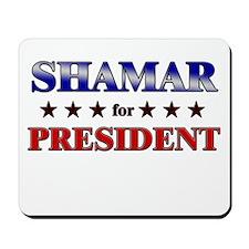 SHAMAR for president Mousepad