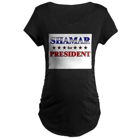 SHAMAR for president Maternity Dark T-Shirt