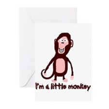 Little Monkey Greeting Cards (Pk of 10)