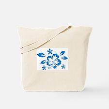 Hibiscus turquoise Tote Bag