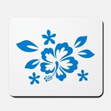 Hibiscus turquoise Mousepad