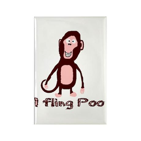 I fling Poo Rectangle Magnet