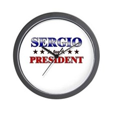 SERGIO for president Wall Clock