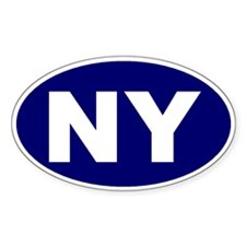 New York City, New York N.Y. Oval Decal