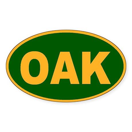 Oakland, California Oval Sticker