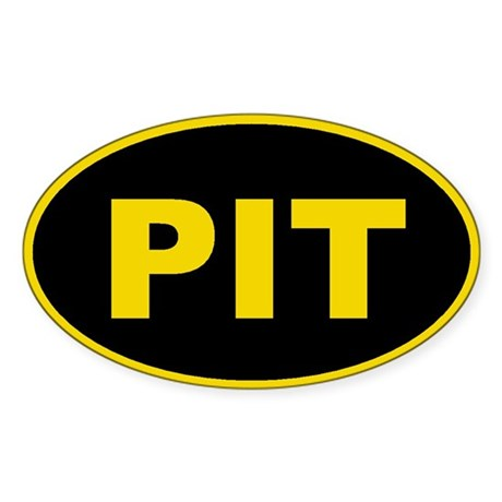 Pittsburgh, Pennsylvania Oval Sticker