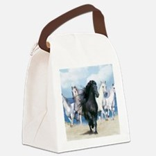 Cute Wild horse Canvas Lunch Bag