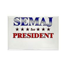 SEMAJ for president Rectangle Magnet