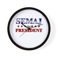 SEMAJ for president Wall Clock