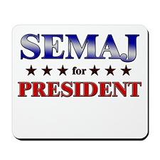 SEMAJ for president Mousepad