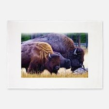 American Bison Family 5'x7'Area Rug