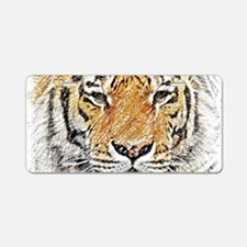 Wild Tiger Sketch Aluminum License Plate