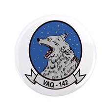 "VAQ 142 Gray Wolves 3.5"" Button"