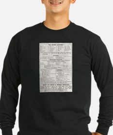 Morse Code Survival Design Long Sleeve T-Shirt