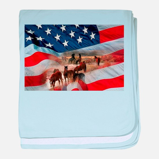 American Wild baby blanket
