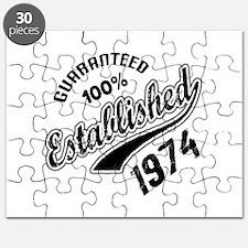 Guaranteed 100% Established 1974 Puzzle