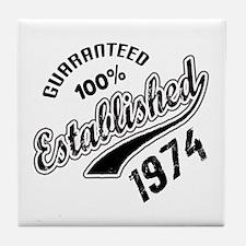 Guaranteed 100% Established 1974 Tile Coaster