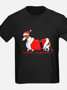 Red Piebald Santa T