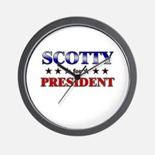 SCOTTY for president Wall Clock