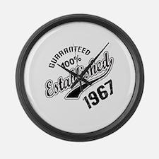 Guaranteed 100% Established 1967 Large Wall Clock